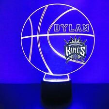 Sacramento Kings Night Light Personalized FREE NBA Basketball Light Up LED