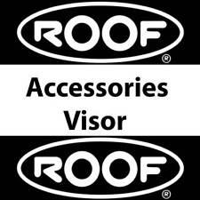 Auténtica Plata Iridio Visera de techo para caber Boxer V8 casco de motocicleta
