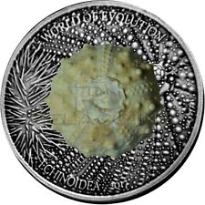 Burkina Faso 2017 1000 Francs World of Evolution - Echinoidea 1oz Silver Coin
