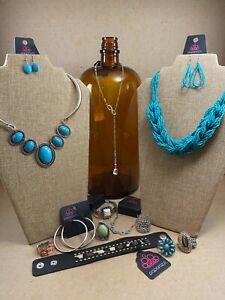 🔥 Paparazzi Jewelry Lot 12 Necklace Earrings Bracelet Ring NEW Stone Turquoise