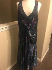 NWT Rachel Rachel Roy  multicolor Tie-Front Midi Dress  14W