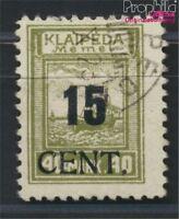 Memelgebiet 193I geprüft, enger Abstand gestempelt 1923 Aushilfsausgabe (8984786
