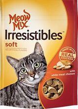 New - Meow Mix Irresistibles Soft Chicken Cat Treats 6.5 oz bag kitten food