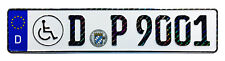 Disabled Person Handicap German License Plate with Hologram