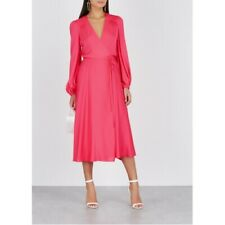 Envoltura de seda MILLY vestido tamaño nos 6 Reino Unido 10