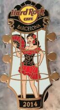 Hard Rock Cafe BARCELONA 2014 Go-Go Girl Series PIN Dancer GUITAR HEAD HRC#79892