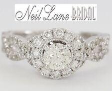 Neil Lane Bridal 1 ct 14K White Gold Round Diamond Frame Halo Engagement Ring