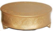 Regal Wedding Matte Gold Round Cake Stand Plateau 18 Inch Wedding Cake Stand