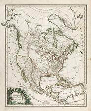1809, Carte ancienne Amérique du Nord. Lapie. Antique map of North America, USA