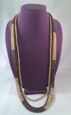 Style & Co. Gold and Bronze-Tone Three Row Multi-Chain Necklace Retail Price $30