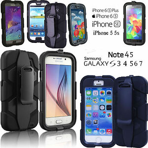 BUILDERS SURVIVAL MILITARY HEAVY DUTY SHOCK PROOF TOUGH CASE COVER ALL PHONES