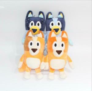 4PCS Bluey and Bingo Dog Friends Plush Toy Stuffed Plush Dolls Kids Gift 28-30CM