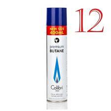 Colibri - Bombole GAS 12 x 400ml Butano Originale Ricarica Alta Qualità