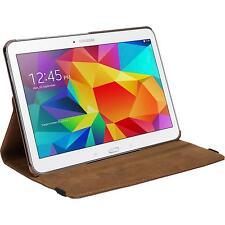 Cubierta de cuero artificial Samsung Galaxy Tab 4 10.1 360° marrón