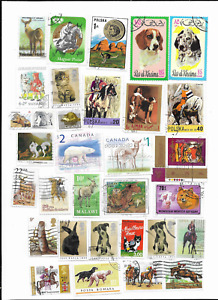 100 Mostly Different Animal Postage Stamps from World Wide used.*