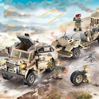 464pcs Militär Howitzer Tractor Gepanzerter Modell Bausteine mit Soldat Figuren