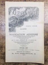 L'aéronaute 1897 Rare Revue Navigation Aérienne Aérostat Stenzel Neufmontiers