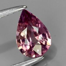 0.73 CT PEAR SHAPED NATURAL SAPPHIRE, PINKISH PURPLE, UNHEATED/UNTREATED