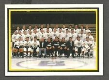 1990-91 Kraft Singles (Canada) Boston Bruins Team Card