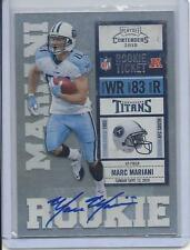 MARC MARIANI 2010 PLAYOFF CONTENDERS TITANS BEARS ROOKIE TICKET TRUE RC AUTO 167