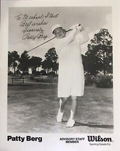 PATTY BERG Signed 8x10 Photo..LPGA Legend..RARE..(d.2006) HOFer