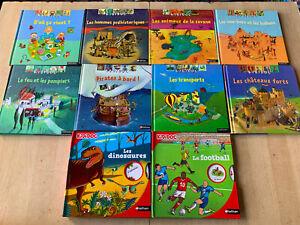 lot 10 livres KIDIDOC - Nathan / livres animés  - spécial garçons