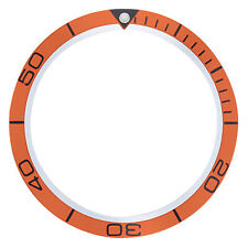 BEZEL INSERT FOR 42MM CASE OMEGA SEAMASTER PLANET OCEAN WATCH ORANGE TOP QUALITY