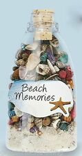 Sea Shell and Sand Bottle Beach Memories Luau Wedding Party Favor Gift