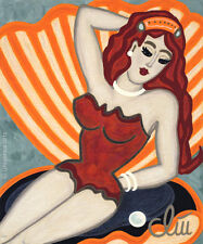JACQUELINE DITT - Bombshell (Sexbombe) A4 DRUCK n.Gemälde girl Bilder Giclee