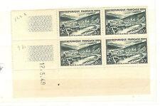 TIMBRES FRANCE BLOC DE 4 COINS DATE YVERT N° 842 A VALLKEE DE LA MEUSE 1949