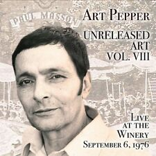 Art Pepper - Unreleased Art Vol. VIII / Live at the Winery September 6th, 1976