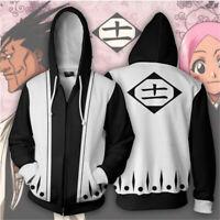 BLEACH Kenpachi Zaraki Cosplay Costume Anime Hoodie Sweatshirt Zip Jacket Coat