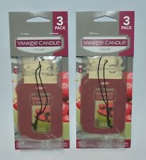 LOT OF 6 YANKEE CANDLE BLACK CHERRY CLASSIC CAR JAR AIR FRESHENER CLOSET HANGING