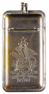 1890s ANHEUSER BUSCH BEER POCKET ADVERTISING MATCH SAFE VESTA BUDWEISER #2