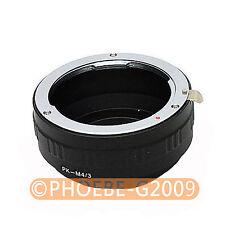 PENTAX K Lens to Micro 4/3 adapter E-P1 E-P2 PL1 G1 GF1