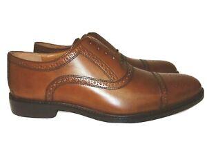 New- Johnston & Murphy Full Brogue Cap Toe Brown Leather Men's US 11M, MSRP $199