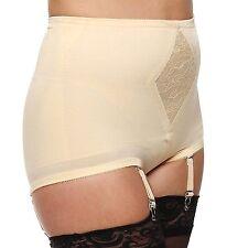 Rago Diet Minded Satin & Smooth 4 Strap Garter Beige Panty Girdle Size 42/6XL