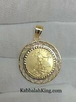 Standing Lady Liberty 5 Dollar 1/10 OZ .999 Fine Gold Coin Bullion Charm Pendant