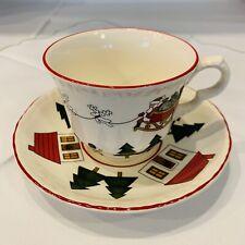 Mason´s Masons Christmas Village Kaffeetasse Tasse mit Untertasse, mehr da