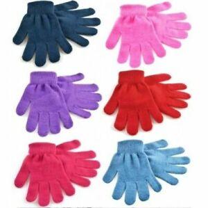 Kids Girls Boys Childrens Toddlers Mini Magic Winter Warm Soft Stretch Gloves