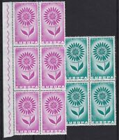 ITL166) Italy set of 2 singles, 5 blocks of 4 & block of 6, 1964 Europa Stamps,