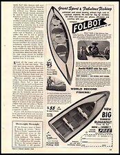 1962 Folbot Mini Boats Prefab Portable Vintage Print Ad