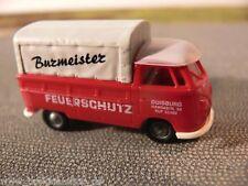 1/87 Brekina # 0563 VW T1 Pr/Pl Burmeister Feuerschutz Sondermodell