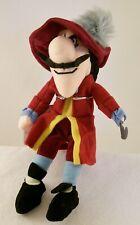 "Disney Store ""Captain Hook"" from Peter Pan Plush Mini Bean Bag NWT MINT & RARE"