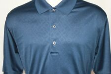 Greg Norman Play Dry mens golf polo shirt short sleeve X-Large Navy Blue NWOT