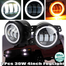 For Hummer H2 2003-2009 30W 4 Inch LED Driving Fog Light Bumper Lamps 6000K IP68