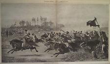 HORSE RACING DALMATIA TURKEY CONSTANTINOPLE ISTANBUL HARPER'S WEEKLY 1877