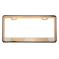 Laser Engraved Jeep Rose Gold Chrome License Plate Frame T304 Stainless Steel