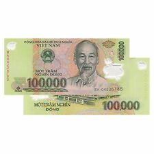 Vietnam 100,000 X 5 Pieces (PCS)= 500,000 Dong Currency VND Banknotes