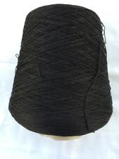 SUNRAY YARN 100% Cotton Color Black, Weight of one con is 1lb 15oz